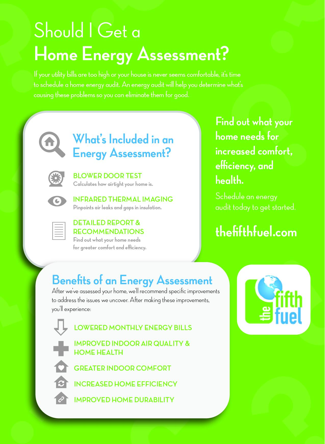 infographic, should i get an energy audit, the fifth fuel