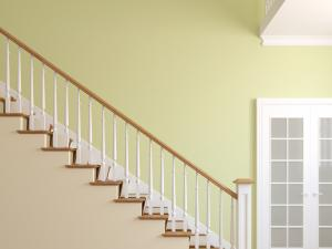 Staircase in the modern home in Manassas, VA